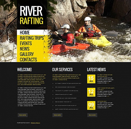 River Rafting Website Template