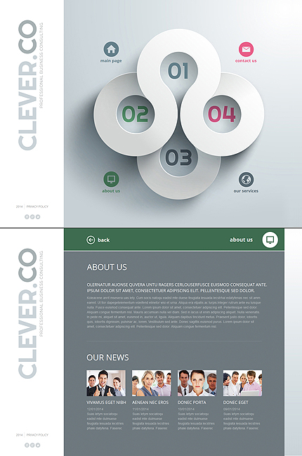Creative Website Template for Business Consulting Companies
