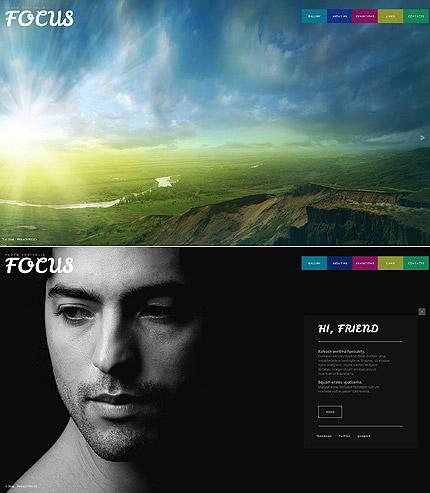 Portfolio Website Design with Multioclored Menu Bar