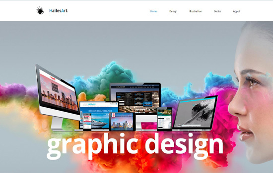 HailesArt​ MotoCMS-based Website