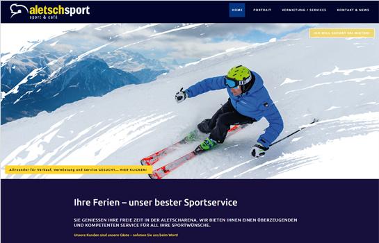 Aletschsport Riederalp MotoCMS-based Website