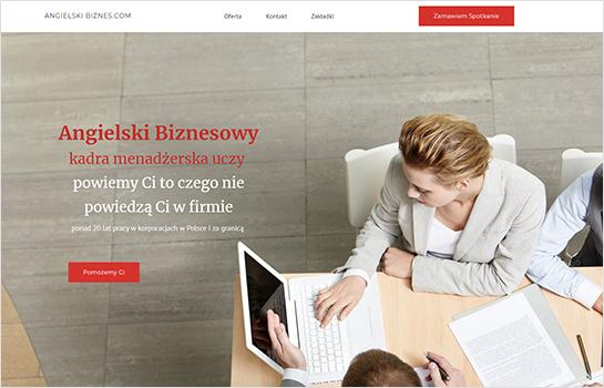 Angielski Biznesowy MotoCMS-based Website