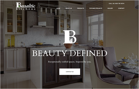 Basaltic Kitchens MotoCMS-based Website