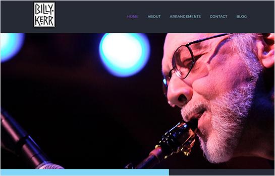 Billy Kerr MotoCMS-based Website