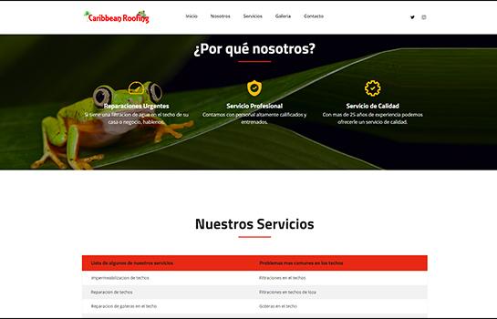 Caribbean Roofing MotoCMS-based Website