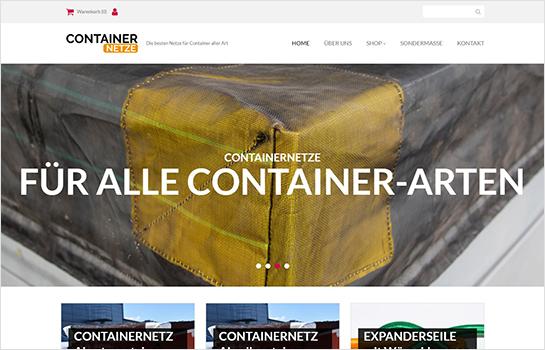 Container-Netze-Shop MotoCMS-based Website