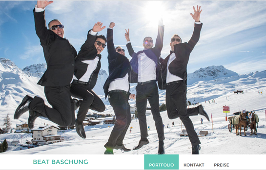Beat Baschung Fotografie MotoCMS-based Website