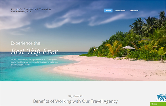 Allison's Enchanted Travel MotoCMS-based Website