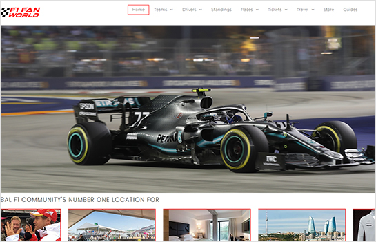 F1 Fan World MotoCMS-based Website