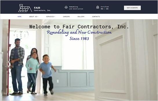 Fair Contactors Inc MotoCMS-based Website