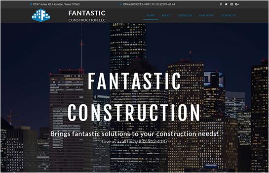 Fantastic Construction LLC MotoCMS-based Website