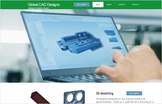 Global CAD Designs MotoCMS-based Website