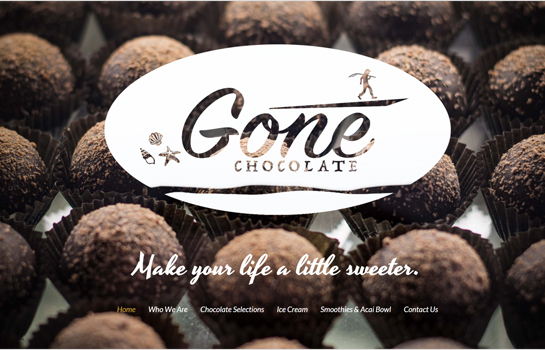 Gone Chocolate MotoCMS-based Website