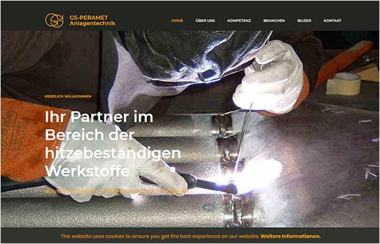 GS-Peramet Anlagentechnik MotoCMS-based Website