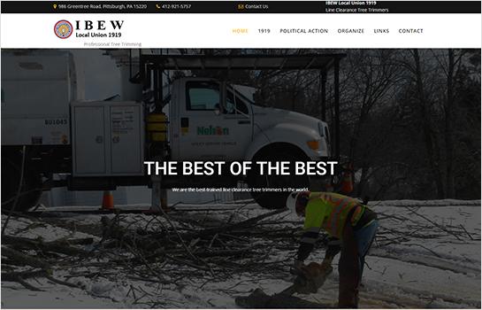 IBEW Local 1919 Tree Trimmers MotoCMS-based Website