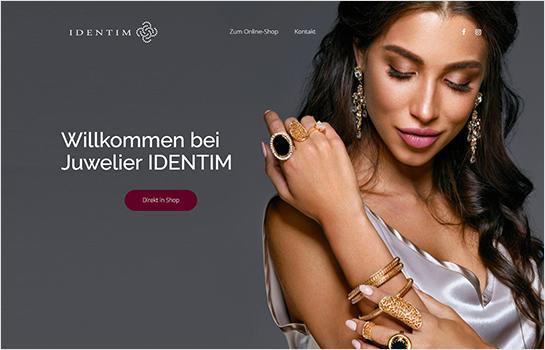 Juwelier IDENTIM MotoCMS-based Website
