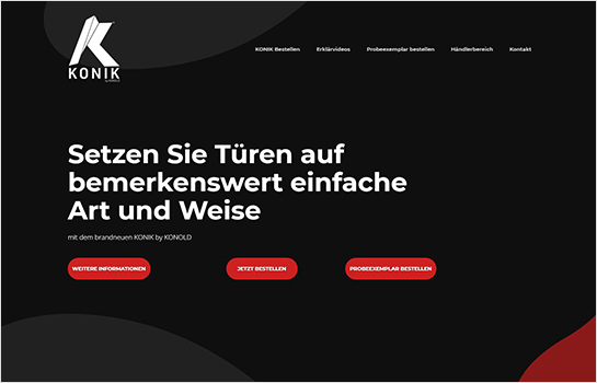 KONIK by KONOLD MotoCMS-based Website