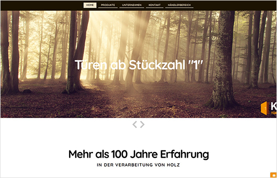 KONOLD-Türen MotoCMS-based Website