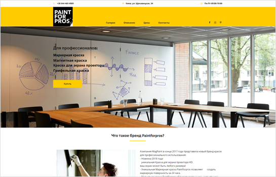 Paint for Pros MotoCMS-based Website