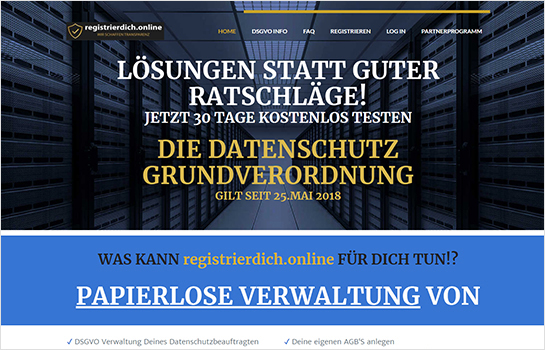Registrierdich.online MotoCMS-based Website