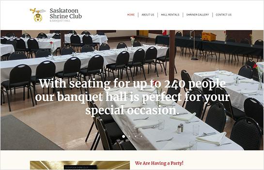Saskatoon Shrine Club MotoCMS-based Website