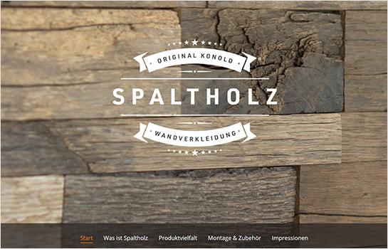 Spaltholz by KONOLD MotoCMS-based Website