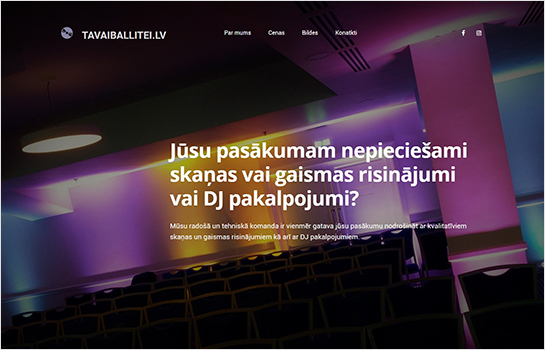 TAVAIBALLITEI.LV MotoCMS-based Website