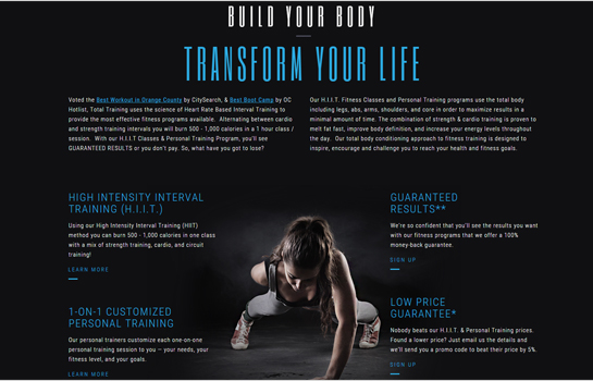 Total Training MotoCMS-based Website