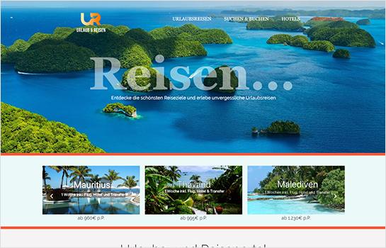 Online Reiseportal MotoCMS-based Website