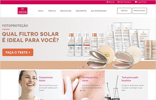Adcos Cosméticos MotoCMS-based Website