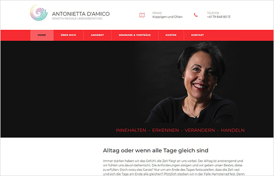 Antonietta D'Amico MotoCMS-based Website