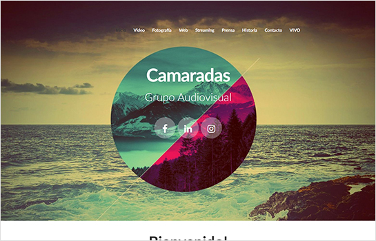 Camaras Grupo Audiovisual MotoCMS-based Website