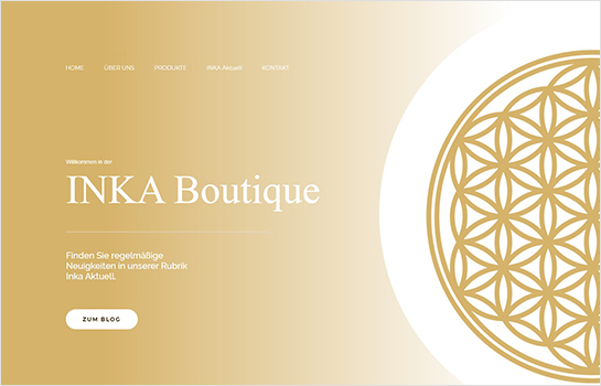 INKA Boutique MotoCMS-based Website