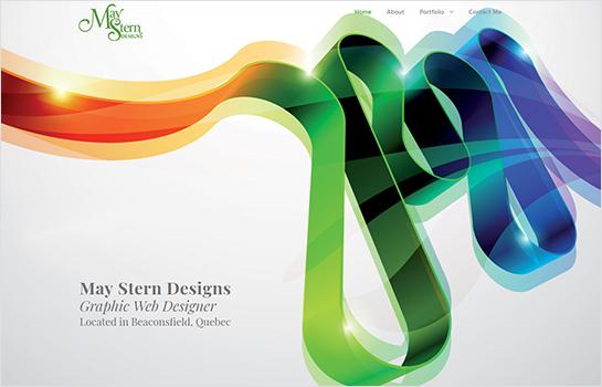 May Stern Designs MotoCMS-based Website