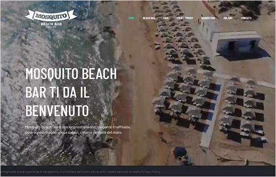 Mosquito Beach Bar MotoCMS-based Website
