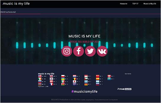 Music is My Life MotoCMS-based Website